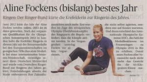 Aline Fockens bislang bestes Jahr