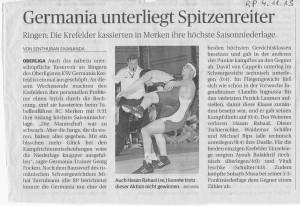 Rheinische Post 4.11.13